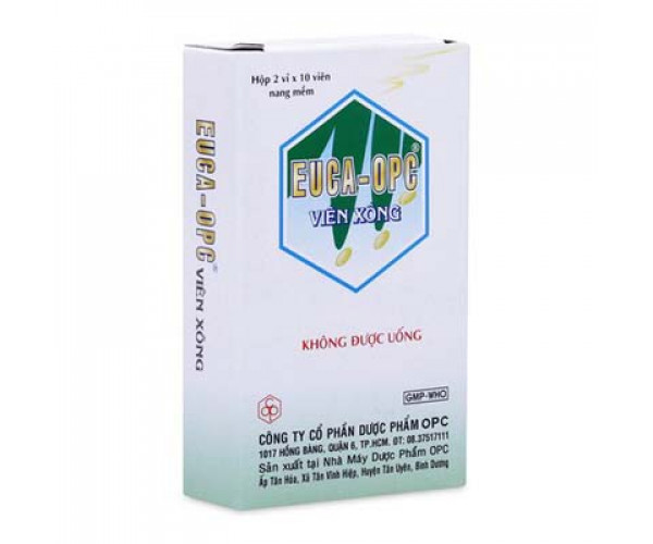 Viên xông trị cảm mạo, sát trùng mũi họng Euca – OPC (2 vỉ x 10 viên)