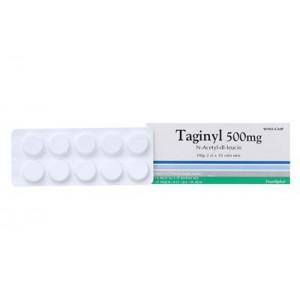 Thuốc trị chóng mặt Taginyl 500mg (2 vỉ x 10 viên/hộp)