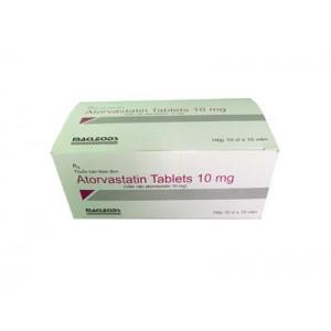 Thuốc điều trị mỡ máu Atorvastatin 10mg Macleods  (10 vỉ x 10 viên/hộp)
