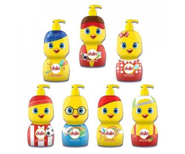 Sữa tắm gội toàn thân không cay mắt cho bé Dalin Baby (Chai 650ml) + Tặng kèm dầu massage và dưỡng ẩm Dalin baby oil (50ml)