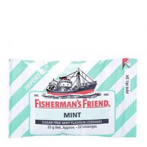 Kẹo cay con tàu không đường vị bạc hà Fishermans Friend Mint 25g