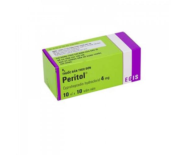 Thuốc chống dị ứng và dùng trong trường hợp quá mẫn Peritol 4mg (10 vỉ x 10 viên/hộp)