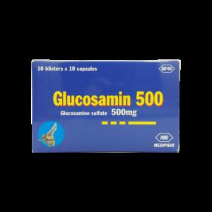 Thuốc trị thoái hóa xương khớp Glucosamin 500mg (10 vỉ x 10 viên/hộp)