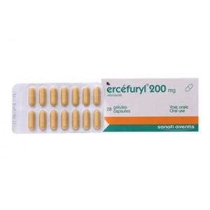 Thuốc trị tiêu chảy Ercéfuryl 200mg (2 vỉ x 14 viên/hộp)