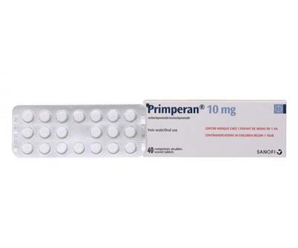 Thuốc chống nôn Primperan 10mg (2 vỉ x 20 viên/hộp)