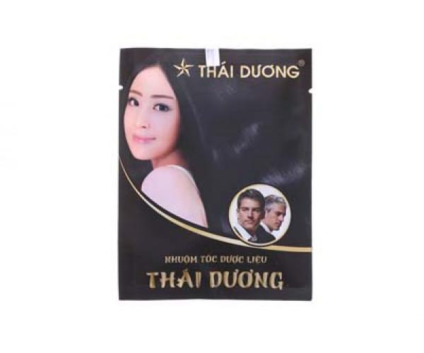 Thuốc nhuộm tóc dược liệu Thái Dương màu đen (5 gói/hộp)