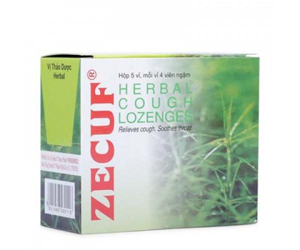 Viên ngậm trị ho vị thảo dược Zecuf (5 vỉ x 4 viên/hộp)