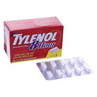 Thuốc giảm đau hạ sốt  Tylenol 8 hour 650mg (5 vỉ x 10 viên/hộp)