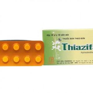 Thiazifar 25mg (10 vỉ x 10 viên/hộp)