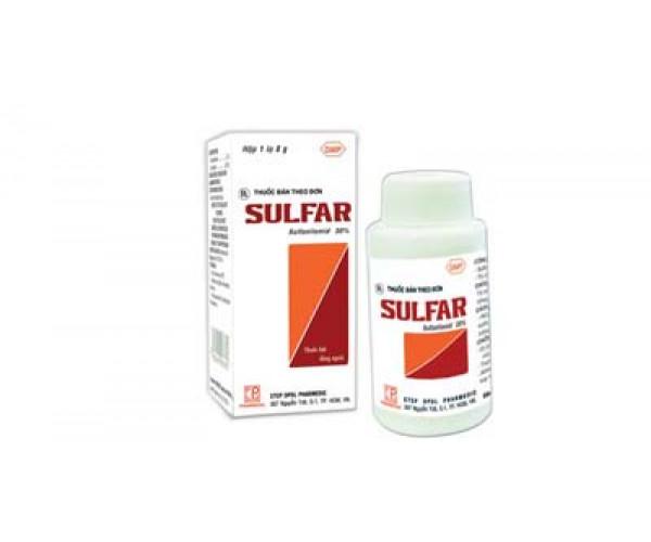 Thuốc trị nhiễm trùng các vết thương, vết bỏng, mụn lở Sulfar (8g)