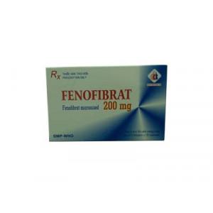 Thuốc điều trị mỡ máu Fenofibrat 200mg (3 vỉ x 10 viên/hộp)