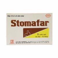 Thuốc  điều trị các chứng loét đường tiêu hoá và giảm tiết acid dạ dày Stomafar (10 vỉ x 8 viên/hộp)