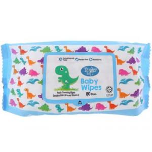 Khăn ướt em bé không mùi hương Tendersoft màu xanh (80 tờ/gói)