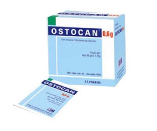 Thuốc điều trị tình trạng thiếu hụt canxi Ostocan 0.6g (30 gói/hộp)