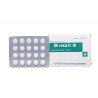 Thuốc điều trị đau thắt ngực Biresort 10mg (3 vỉ x 20 viên/hộp)