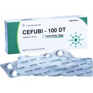 Cefubi - 100 DT (2 vỉ x 10 viên/hộp)