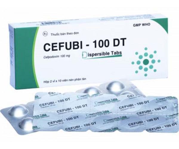 Thuốc kháng sinh Cefubi - 100 DT (2 vỉ x 10 viên/hộp)