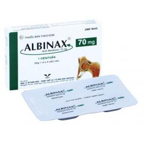 Thuốc trị loãng xương Albinax 70mg (4 viên/hộp)