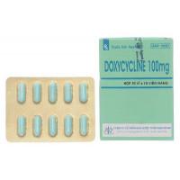Thuốc kháng sinh Doxycyclin 100mg MKP (10 vỉ x 10 viên/hộp)