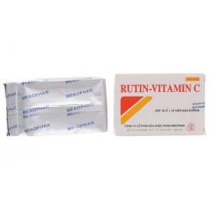 Thuốc làm tăng sức bền thành mạch Rutin - Vitamin C (10 vỉ x 10 viên/hộp)