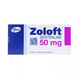 Thuốc chống trầm cảm Zoloft 50mg (3 vỉ x 10 viên/hộp)