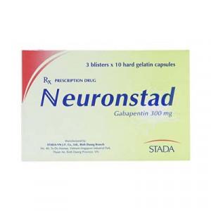 Thuốc trị động kinh Neuronstad 300mg (3 vỉ x 10 viên/hộp)