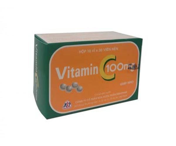 Thuốc bổ sung Vitamin C 100mg (10 vỉ x 30 viên/hộp)