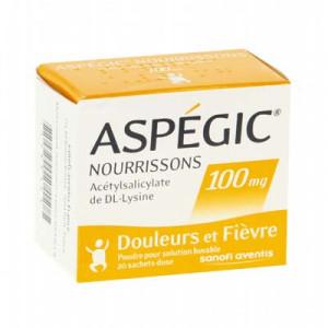 Thuốc giảm đau, hạ sốt Aspegic 100mg (20 gói/hộp)