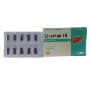Thuốc điều trị bệnh gan Liverton 70 (10 vỉ x 10 viên/hộp)
