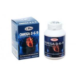 Thực phẩm bảo vệ sức khỏe giúp bổ mắt, giảm cholesterol, bổ não Omega 3,6,9 UBB (100 viên/hộp)