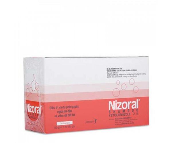 Dầu gội dự phòng và điều trị gàu, ngứa da đầu và viêm da tiết bã Nizoral Shampoo (50 gói x 6ml/hộp)