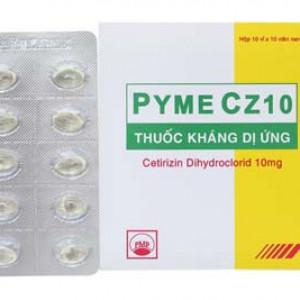 Thuốc kháng dị ứng Pyme Cz10 (10 vỉ x 10 viên/hộp)