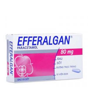 Thuốc giảm đau hạ sốt Efferalgan 80mg dạng viên đặt (2 vỉ x 5 viên/hộp)