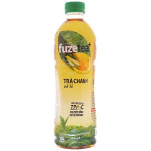 Trà chanh với sả Fuze Tea+ 450ml (24 chai/lốc)