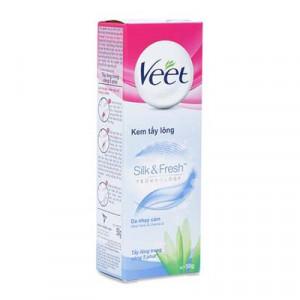 Kem tẩy lông cho da nhạy cảm Veet Silk & Fresh (50g)