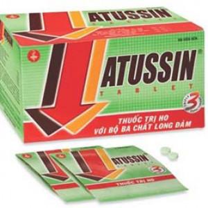 Thuốc trị ho với ba tác động Atussin Tablets (25 vỉ x 4 viên/hộp)