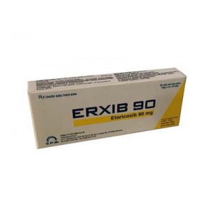 Thuốc giảm đau, kháng viêm Erxib 90 mg (3 vỉ x 10 viên/hộp)