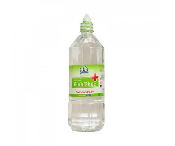 Nước muối sinh lý Vĩnh Phúc Natriclorid 0.9% (1000ml)