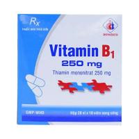 Thuốc điều trị bệnh viêm đa dây thần kinh, tê phù và phòng ngừa thiếu Vitamin B1 250mg Domesco (20 vỉ x 10 viên/hộp)