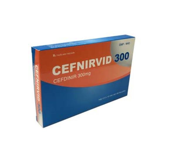 Thuốc kháng sinh Cefnirvid 300mg (2 vỉ x 10 viên/hộp)
