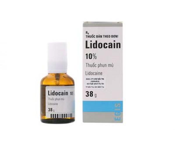 Thuốc phun gây tê tại chỗ Lidocain 10% (38g)