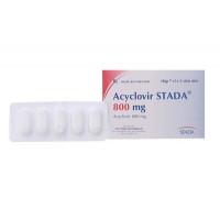 Thuốc kháng virus Acyclovir Stada 800mg (7 vỉ x 5 viên/hộp)