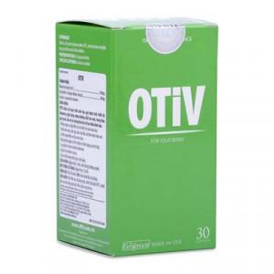 Thực phẩm chức năng hỗ trợ điều trị mất ngủ, đau nửa đầu & suy giảm trí nhớ Otiv (30 viên/chai)