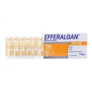 Thuốc giảm đau hạ sốt Efferalgan 300mg dạng viên đặt (2 vỉ x 5 viên/hộp)