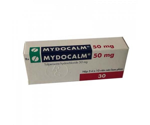 Thuốc giãn cơ Mydocalm 50mg (3 vỉ x 10 viên/hộp)