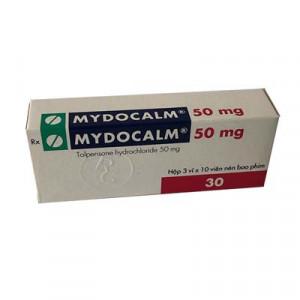 Mydocalm 50mg (3 vỉ x 10 viên/hộp)