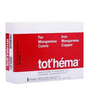 Dung dịch uống điều trị thiếu máu do thiết sắt Tothéma (2 vỉ x 10 ống/hộp)