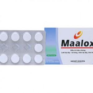 Thuốc điều trị loét dạ dày – tá tràng, viêm dạ dày, khó tiêu Maalox (4 vỉ x 12 viên/hộp)