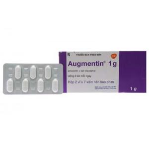 Augmentin 1g (2 vỉ x 7 viên/hộp)