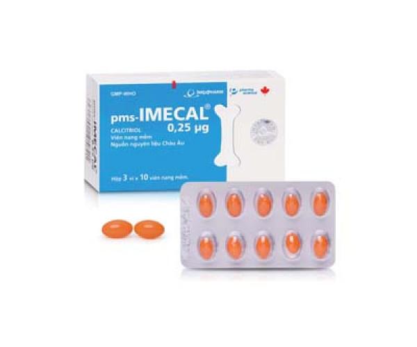 Thuốc điều trị loãng xương Imecal (3 vỉ x 10 viên/hộp)
